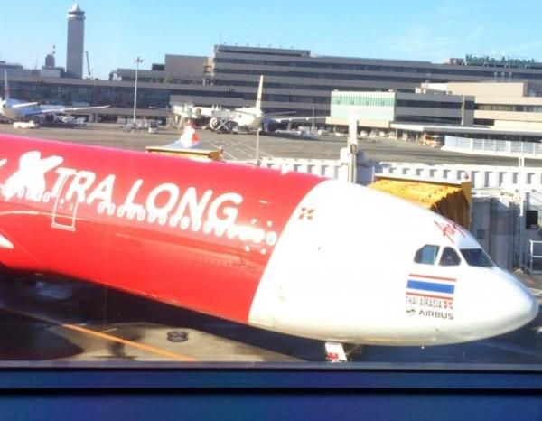 搭乗予定の飛行機