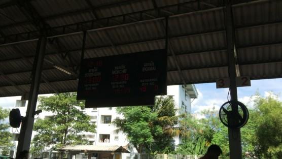 バンコク行きのバス乗り場